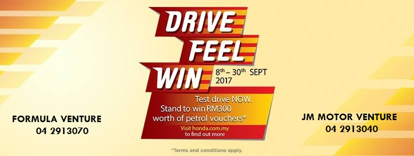 Honda Drive Feel Win 2017 promo
