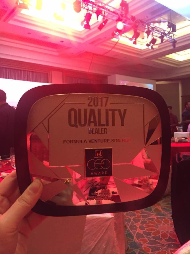 Formula Venture - 2017 Quality Dealer