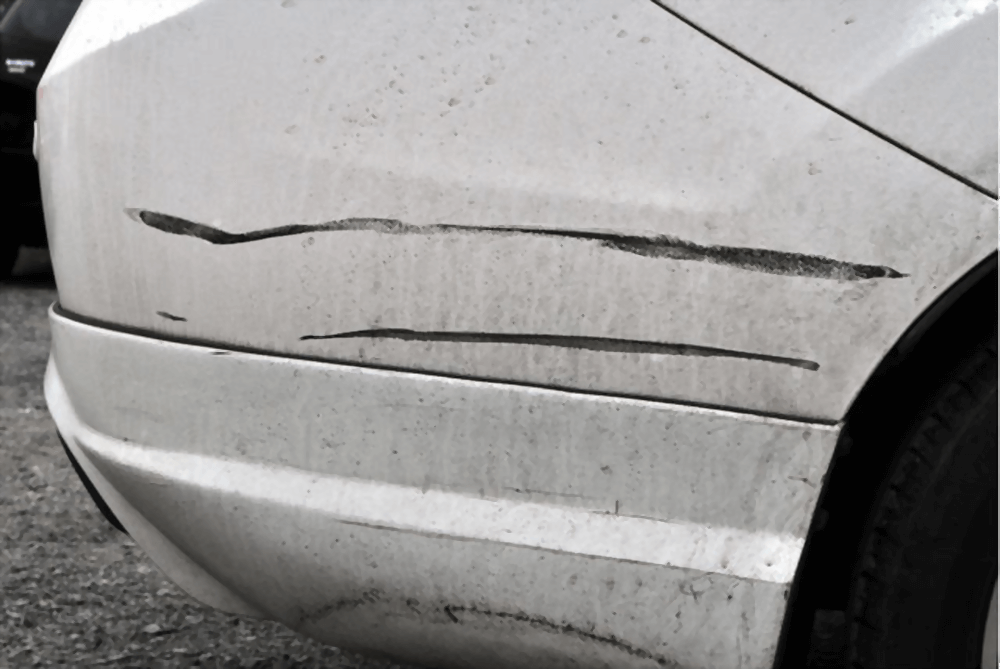 deep paint scratches from accidents