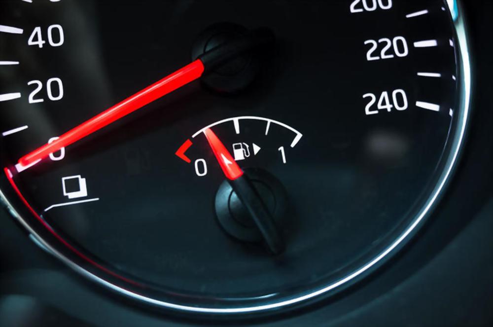 fuel gauge after car service